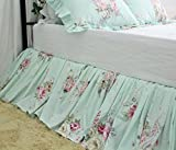 Shabby Green Floral Bedspreads Dust Ruffles Bed Skirts