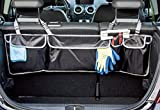 Geared Up Back Seat Car Organizer with 4 Large Pockets-Universal Fit for Any Car Model