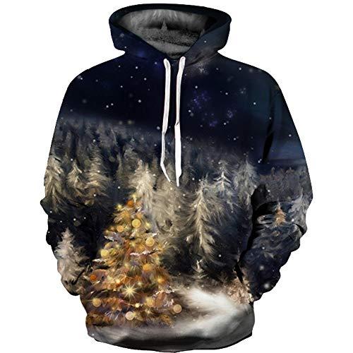 Hiver Femme Chemise Manches 3D Sweats Homme Longues Outwear de Manteau Tops Capuche d l Solike Automne Blouse Chaud Imprim No Pull Costume Couple Sweatshirt Multicolore wqC81I