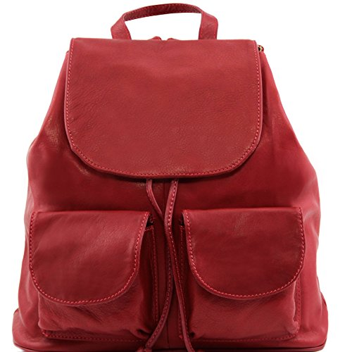 81415074 - TUSCANY LEATHER: SEOUL - Sac à dos en cuir - Grand modèle, rouge