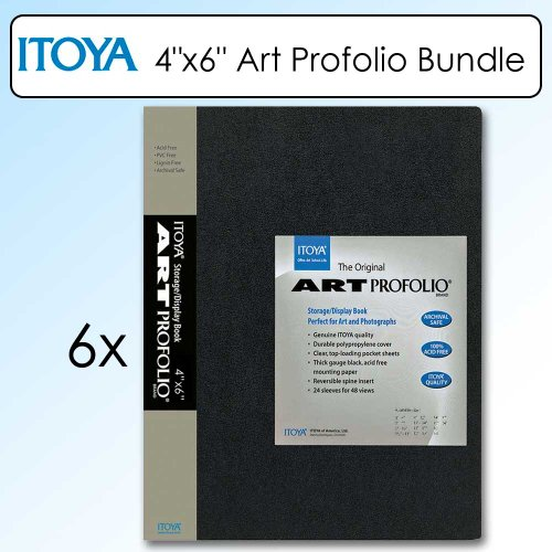 Itoya IA124 The Original Art Profolio Kit Of 6 for 4X6 Inch Photo by Itoya
