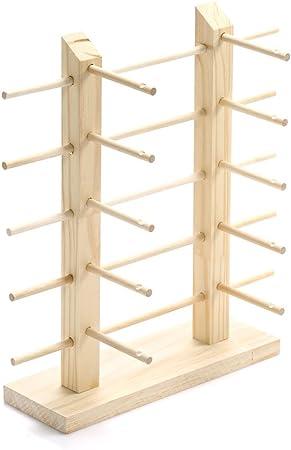 Rack de almacenamiento de madera gafas de sol   gafas expositor: Amazon.es: Hogar