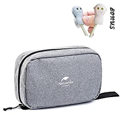 Toiletry Bag, Compact Toiletry Bag Large Storage Capacity with Hanging Hook, Waterproof Travel Organizer and Storage as Bathroom Accessories For Men & Women (Urban Grey)