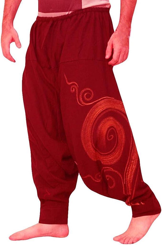 Xinantime Pantalones De Hombres Pantalon Chandal Hombre Pantalones Harem Deportivos Etnico Impreso Overoles Con Cordones Ajustado Y Bolsillo Trabajo De Yoga Suelto Pantalones Casuales Para Hombre Amazon Es Ropa Y Accesorios