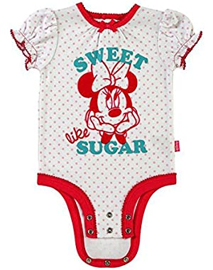 Minnie Mouse Cuddly Bodysuit with Grow an Inch Snaps