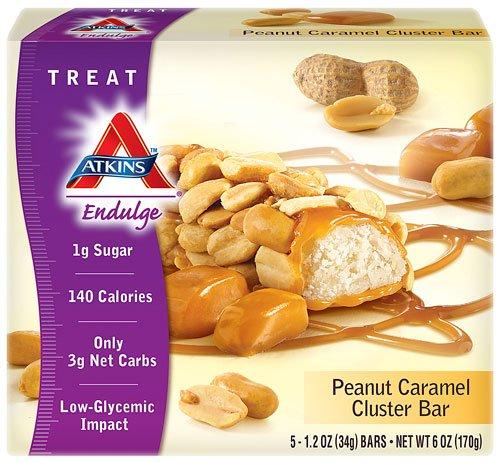 Atkins Endulge Peanut Caramel Cluster - 5 Bars, Low Carb, No Added Sugar