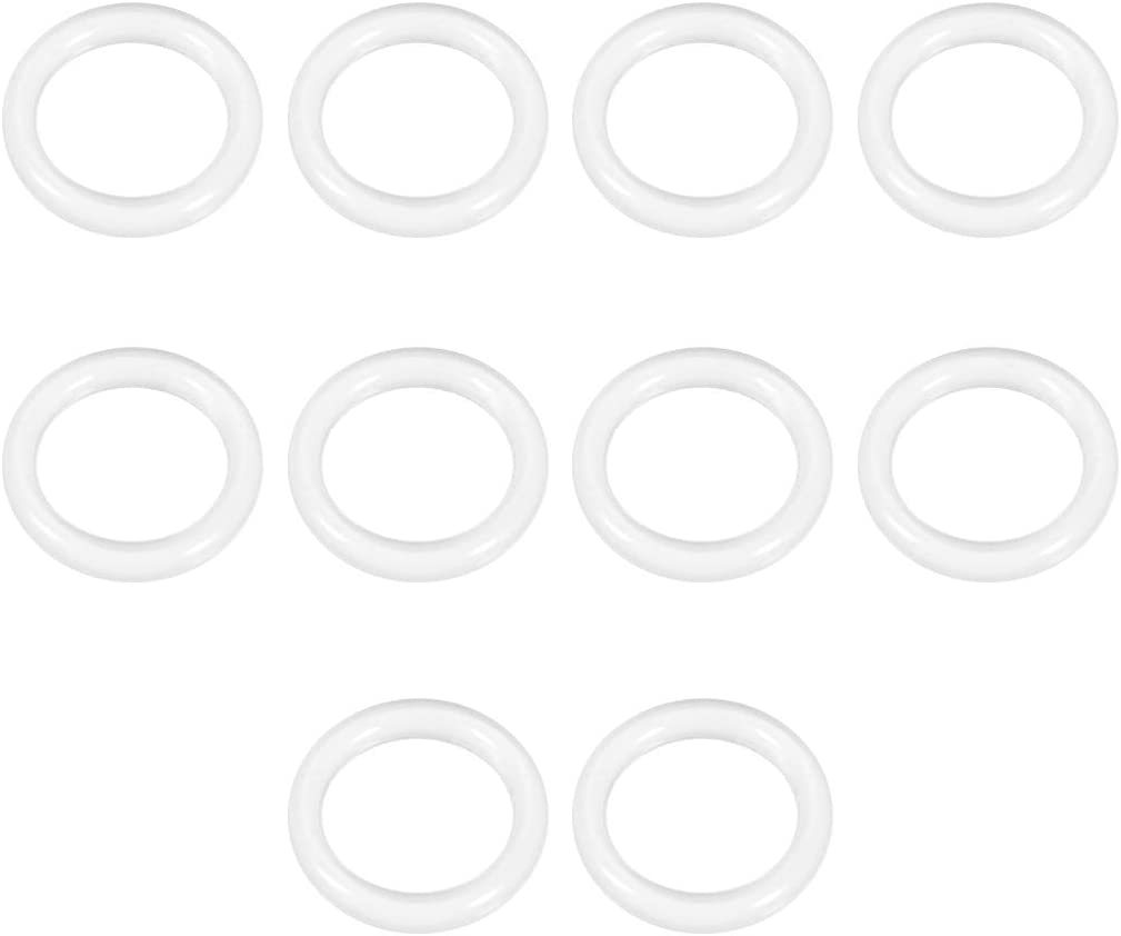 junta de estanqueidad 10 piezas di/ámetro interior de 1 mm sourcing map Juntas t/óricas de silicona ancho de 2 mm od 5 mm