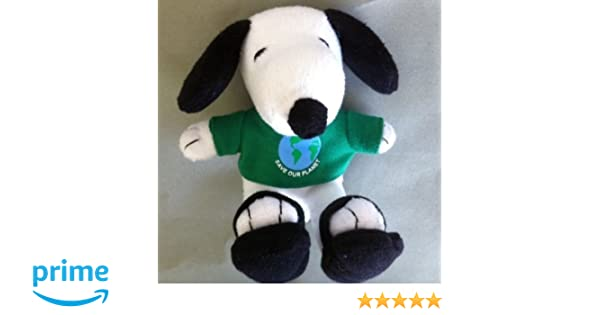 """PEANUTS 6/"""" PLUSH MET LIFE /""""SAVE OUR PLANET/"""" SNOOPY  TSHIRT SANDALS"""