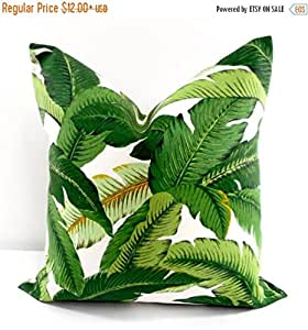 Amazon.com: Palm Pillow. Emerald. Island Hopping. Tommy ...