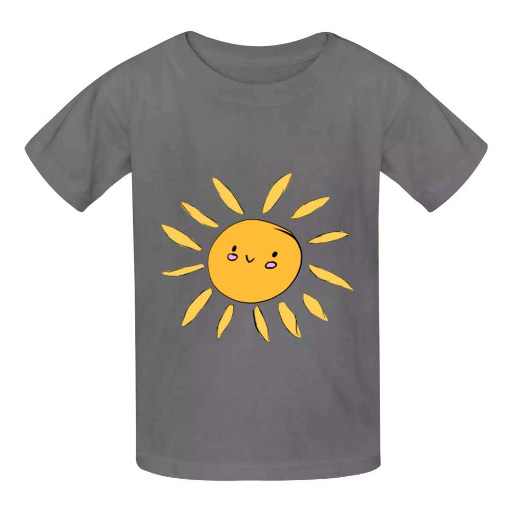 Kawaii Sun Childrens Comfortable and Lovely T Shirt Suitable for Both Boys and Girls