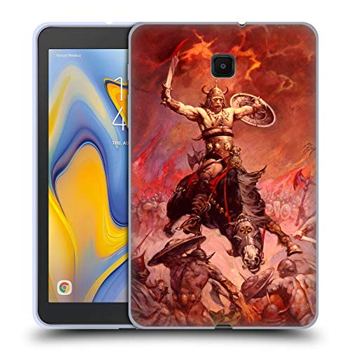 (Official Frank Frazetta The Berserker Medieval Fantasy 2 Soft Gel Case Compatible for Galaxy Tab A 8.0 (2018) )