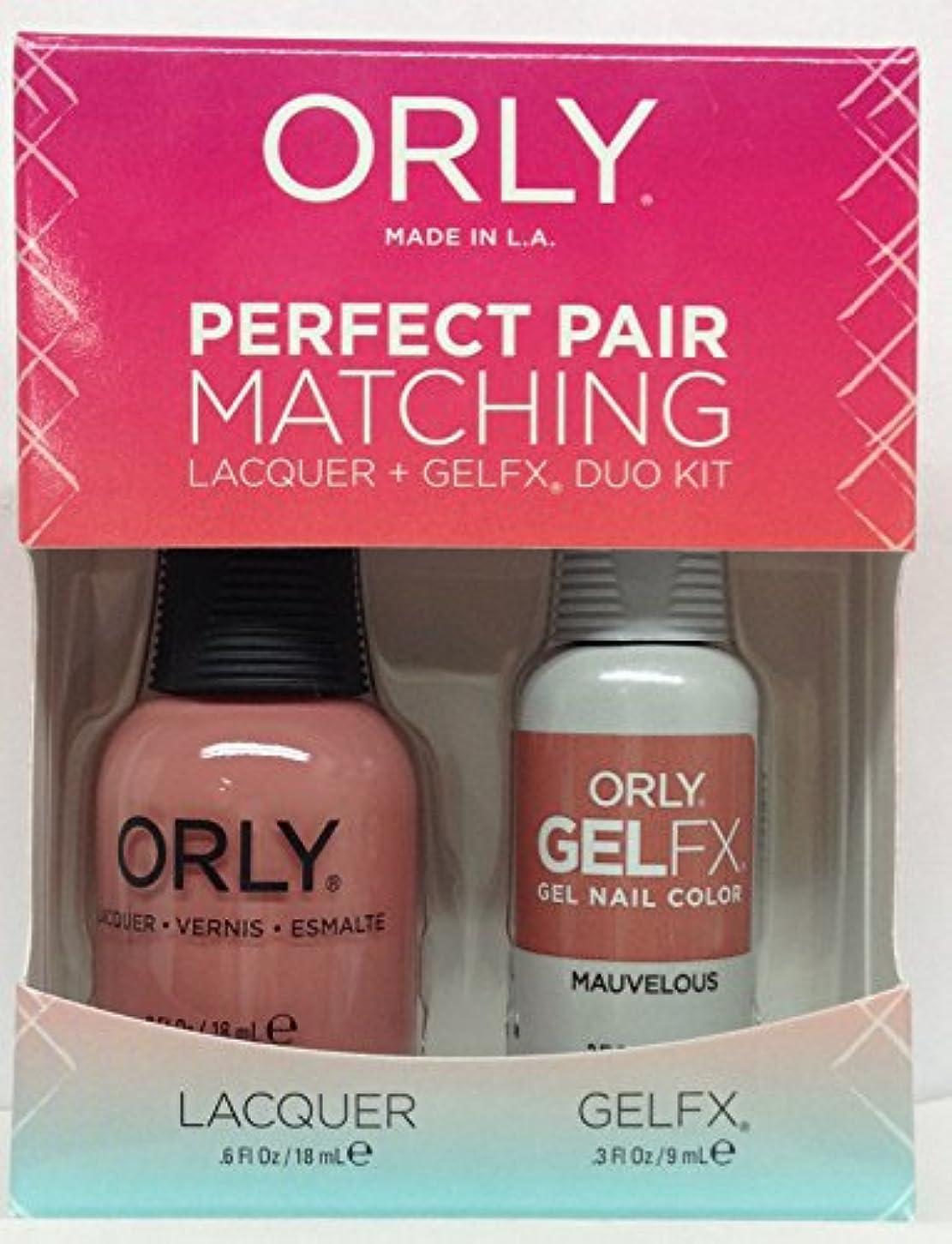 勃起デコードする維持するOrly - Perfect Pair Matching Lacquer+GelFX Kit - Mauvelous - 0.6 oz/0.3 oz