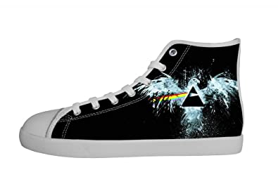 5bdfc5be9229c Amazon.com   Rock Band Pink Floyd Men's Canvas Shoes Men White High ...