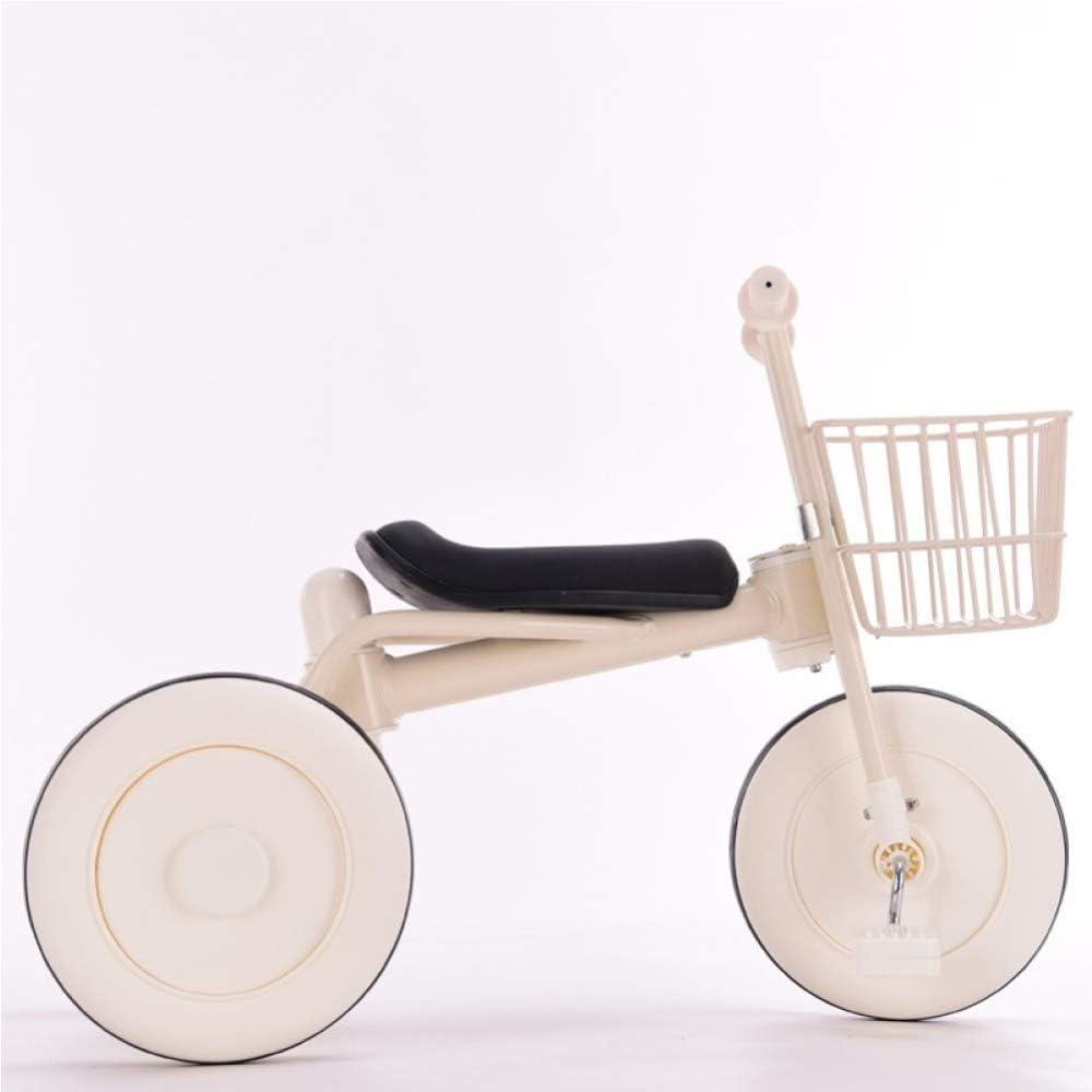 TH Triciclo Triciclo para Niños Triciclo Baby Barra De Manija Desmontable 2 In1 Triciclo Simple Y Elegante 1-5 Años 64x35x50cm