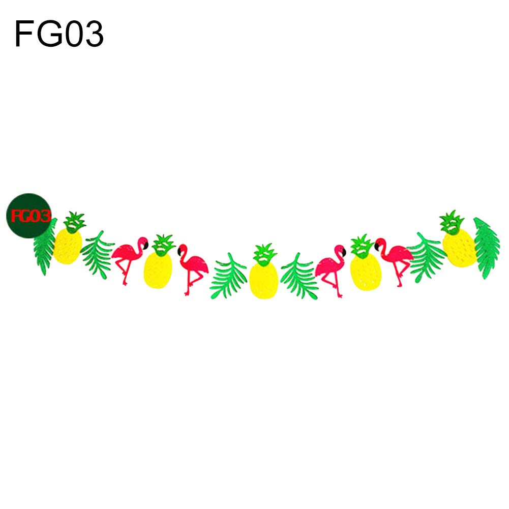 Slendima 118.11'' Rain Forest Toucan Banner Green Leaves & Colorful Fruit Hanging Flags Ornament Decoration FG03