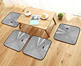 Printsonne Universal Chair Cushions Corridor of Spacecraft Architecture Arrival to Solar System Time Travel Personalized Durable W15.5 x L15.5/4PCS Set