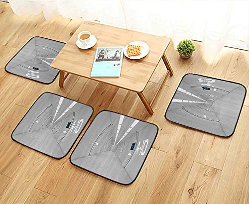 Printsonne Universal Chair Cushions Corridor of Spacecraft Architecture Arrival to Solar System Time Travel Personalized Durable W15.5 x L15.5/4PCS Set by Printsonne