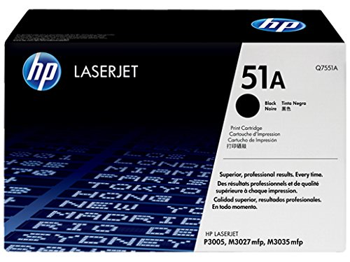 HP 51A Black Laserjet Toner Cartridge Q7551A Inks, Toners & Cartridges at amazon