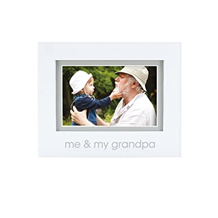 Pearhead Me and My Grandpa Keepsake Photo Frame, Grandpa Gifts, White best gifts for grandpas