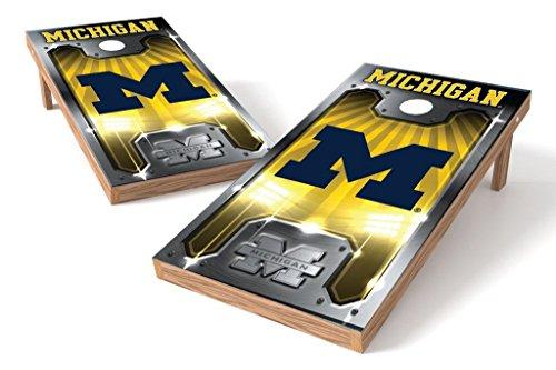 PROLINE NCAA College 2' x 4' Michigan Wolverines Cornhole Board Set - Plate