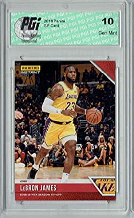 cheap for discount 5e55f 07d24 LeBron James 2018 Panini Tip-Off  4, 1 of 330 Made SSP Card
