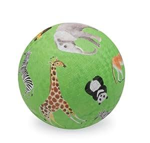 Crocodile Creek Wild Animals Green Playground Ball 7 inches Toy