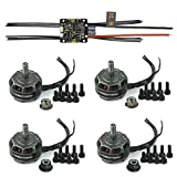 Hobbywing XRotor 20A 4in1 Micro ESC + 2205 2300KV Brushless Motor Set (2CW+2CCW) for FPV Racing Racer Drone