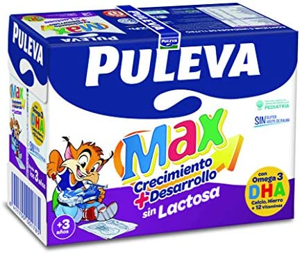 Puleva Max Leche Crecimiento y Desarrollo sin Lactosa - 6 x 1 L - Total: 6 L