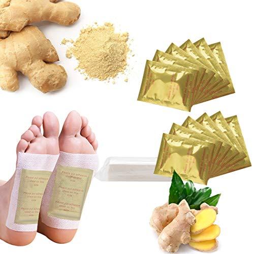 Detox Foot Patches, Detox Foot Pads, Foot Patches, Cleaning Detox Foot Pads, Foot Care Kapmore 80PCS ginger Detoxifying…