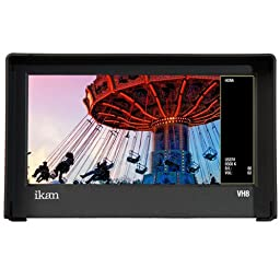 Ikan Corporation VH8-C 8-Inch HDMI Monitor with HD Panel with Canon 900 DV Battery Plate (Black)