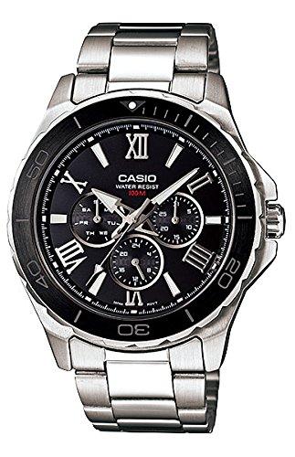 Casio # mtd1075d-1 a1 V Hombres de acero inoxidable ...