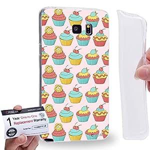 Case88 [Samsung Galaxy Note 5] Gel TPU Carcasa/Funda & Tarjeta de garantía - Art Drawing Cupcake Yummy Art0806