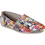 BOBS from Skechers Women's Plush-Wag Party Flat, Multi, 6 M US