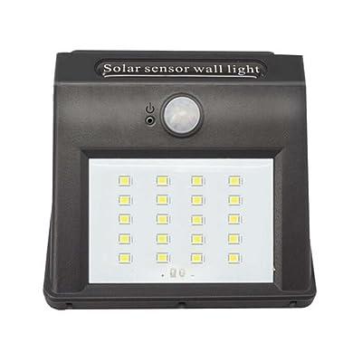 Énergie solaire de LED, lumières de sonde de corps de charge, lampe imperméable à l'eau extérieure de jardin de jardin de mur de lampe de mur 125 * 95 * 50 (millimètre)