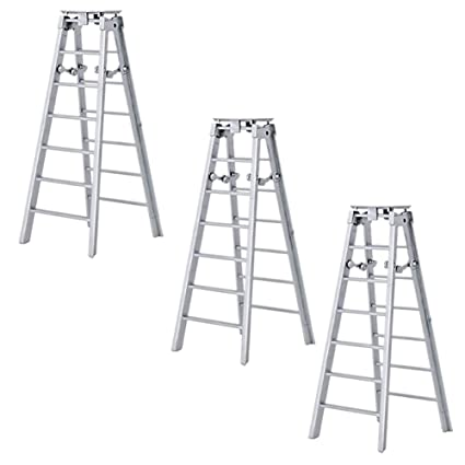 Set of 2 Large 10 Inch Silver Ladders For WWE Wrestling Action Figures