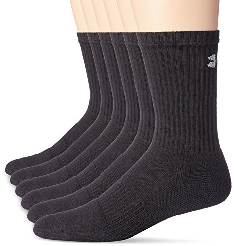 Under-Armour-Mens-Charged-Cotton-20-Crew-Sock-6-Pack