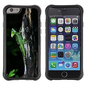Be-Star único patrón Impacto Shock - Absorción y Anti-Arañazos Funda Carcasa Case Bumper Para Apple iPhone 6(4.7 inches) ( Cool Cute Nature Trunk Green Lizard Chameleon )