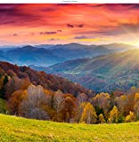 WindowPix 42x42 Inch Decorative Static Cling Window Film Magical Tuscan Sunrise . Printed on Clear for Window Glass panels. UV protection, Energy Saving.