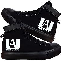 Leegt My Hero Academia Black Zapatillas Deportivas con Estampado De Anime Zapatos Informales De Lona con Dibujos…