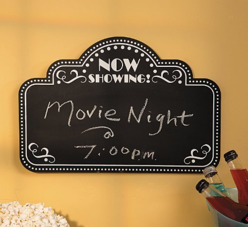 Movie Night Chalkboard - Home Decor