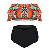 Women's Two Piece Swimsuit Floral Printed Off The