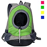 Pet Dog Cat Front Carrier Mesh Portable Outdoor Travel Backpack Head out Carrier Bag Green L by KRexpress Review