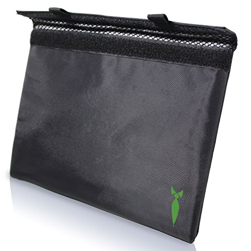 Discreet Smoker Smell Proof Bag 11x9 - Store all your Smelly smoking accessories, Rolling paper, Grinder and Rolling tray DOG TESTED (Black)