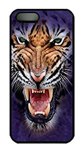 Growling Big Face Tiger Custom PC Hard For SamSung Galaxy S5 Mini Phone Case Cover Black
