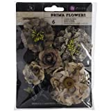 Prima Marketing Cartographer Flowers, 1.5 to 3-Inch, 6-Pack