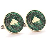 Mount Everest Cufflinks Cuff Links Coin Nepal Rupee Coins Money Champion Asia India Finance Trade