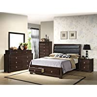 Home Source 50902059 Barcelona Collection Asian Hardwood Chest, 50.6 by 16.5 by 33.07-Inch, Espresso