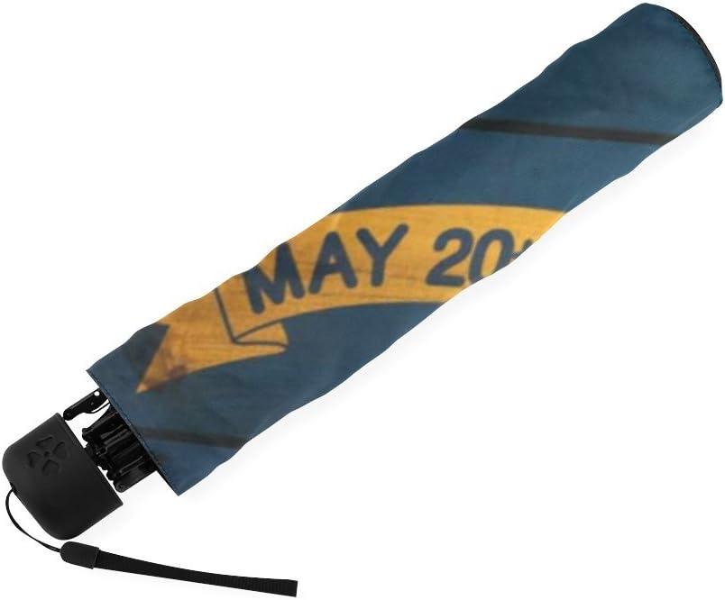 North Carolina State Flag Compact Foldable Rainproof Windproof Travel Umbrella