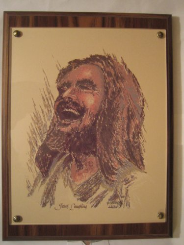 9 X 12 Walnut/Acrylic 'Laughing Jesus' Wall Plaque ()