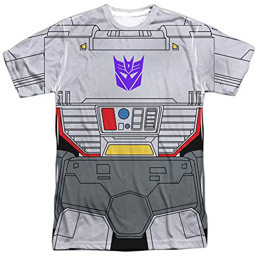 Transformers Megatron Costume Unisex Adult Front Only Sublimated T Shirt for Men and Women, X-Large -